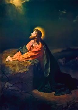 Jesus at Gethsemane
